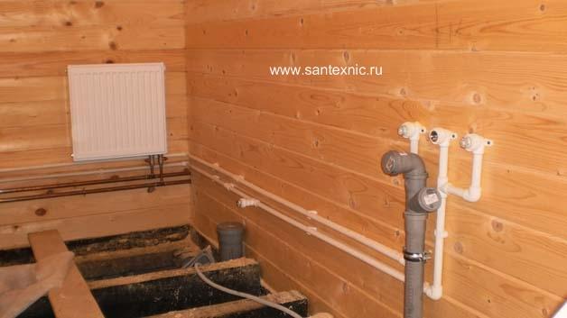 Канализация в частном деревянном доме своими руками